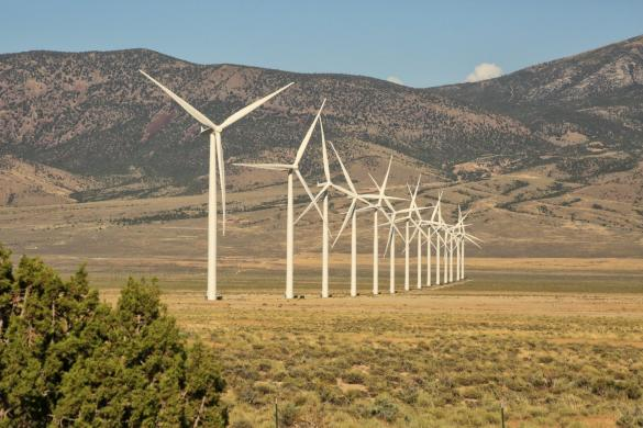 Wind farm in White Pine County, Nevada