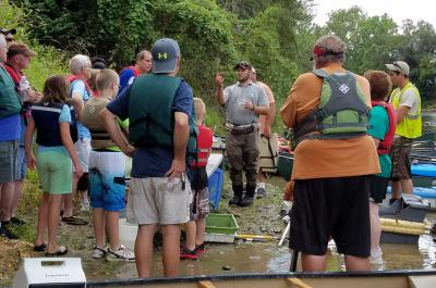 Electrofishing demonstration