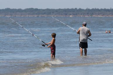 A pair of anglers