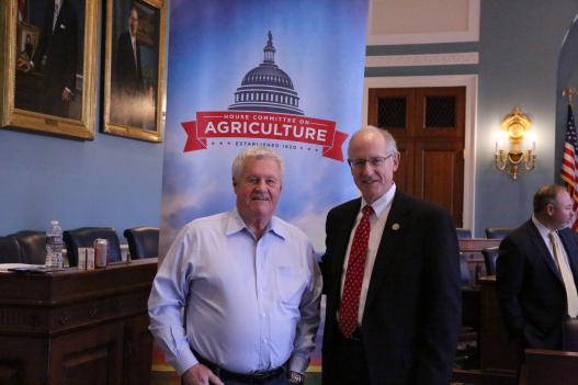 Committee Chairman Mike Conaway of Texas (right) and Ranking Member Collin Peterson of Minnesota (left)