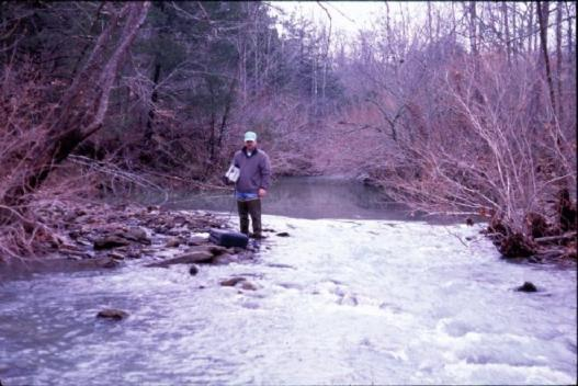 Conducting research on river depth during drought