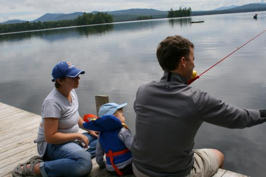 A family fishing