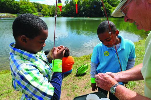Indiana DNR Staff conducts a public fishing program