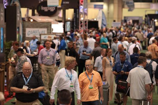 Crowd at the ICAST trade show