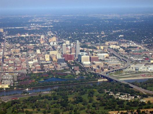 Omaha, Nebraska aerial view