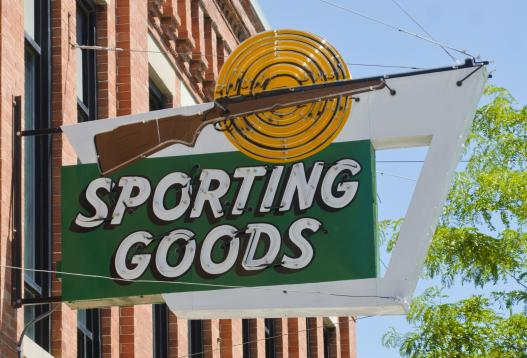 Sporting Goods shop sign