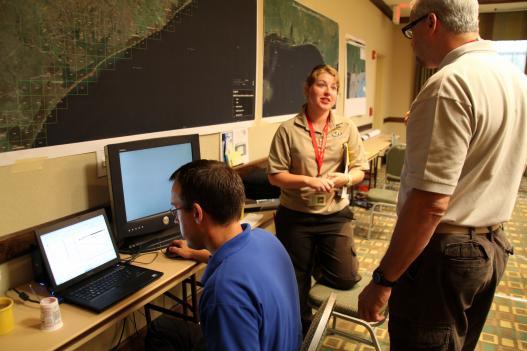 Conservation staff at work